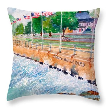 Stacey Boulevard,gloucester, Ma Throw Pillow by Kathryn G Roberts