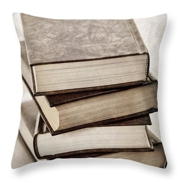 Stack Of Books Throw Pillow by Elena Elisseeva