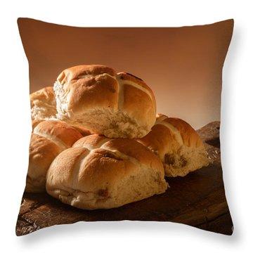 Stack Of Hot Cross Buns Throw Pillow