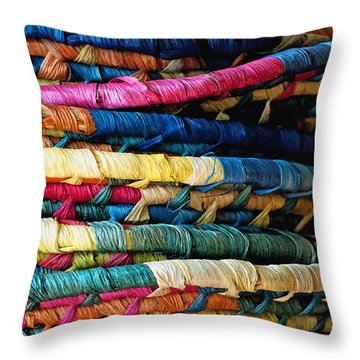 Stacked Baskets Throw Pillow by Gwyn Newcombe