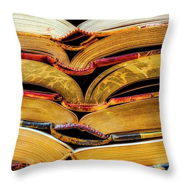 Stacked Book Spines Throw Pillow