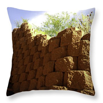 The Wall Throw Pillow by Gilbert Artiaga