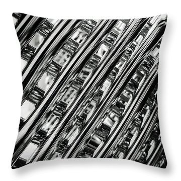 Stacked Chairs Abstract Throw Pillow by Bruce Carpenter