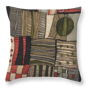 Stacked Shapes Throw Pillow by Sandra Church