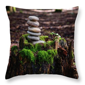 Throw Pillow featuring the photograph Stacked Stones And Fairy Tales IIi by Marco Oliveira