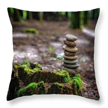 Throw Pillow featuring the photograph Stacked Stones And Fairy Tales by Marco Oliveira