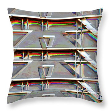 Stacked Storage Crates Abstract Throw Pillow