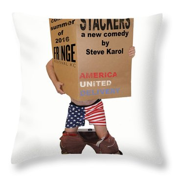 Stackers Poster Throw Pillow by Steve Karol