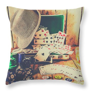 Stacking The Deck Throw Pillow