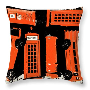 Stacking The Double Deckers Throw Pillow