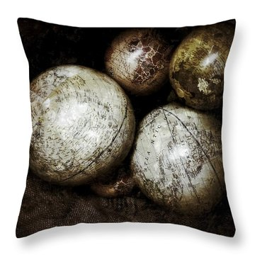 Stacking Worlds Throw Pillow