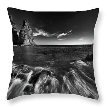 Stacks In Olympic Throw Pillow by Jon Glaser