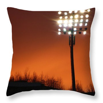 Stadium Lights Throw Pillow by RKAB Works