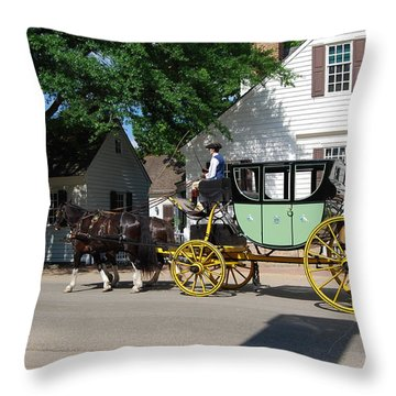 Stage Coach Throw Pillow by Eric Liller