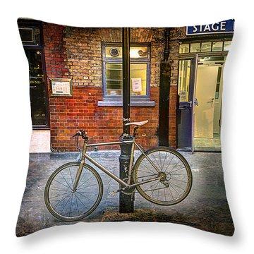 Stage Door Bike Throw Pillow
