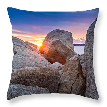 Throw Pillow featuring the photograph Stage Fort Park Gloucester by Michael Hubley
