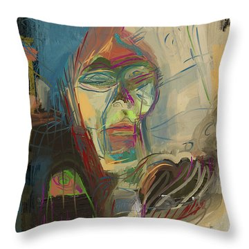 Stage Fright Throw Pillow by Russell Pierce
