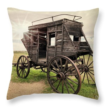Stagecoach Days Throw Pillow