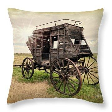 Stagecoach Days Throw Pillow
