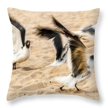 Stages Of Flight Throw Pillow