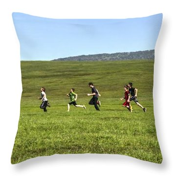 Throw Pillow featuring the photograph Stages Of Flow by Peter Thoeny