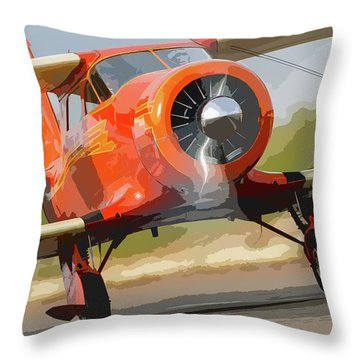 Staggerwing Abstract Throw Pillow