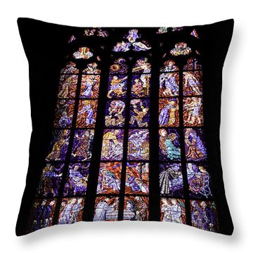 Stain Glass Window Throw Pillow by Madeline Ellis
