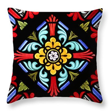 Stained Glass 1 Throw Pillow