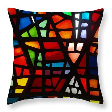 Throw Pillow featuring the photograph Stained Glass 2 by Michael Canning