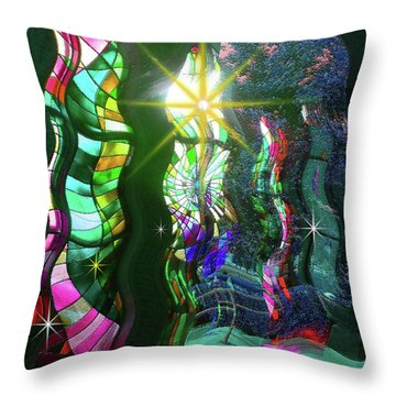 Stained Glass #4719_2 Throw Pillow by Barbara Tristan