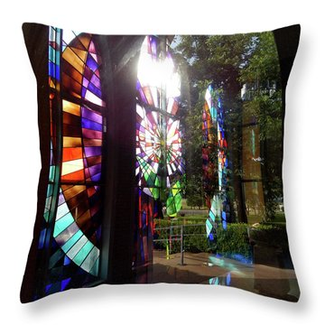Stained Glass #4720 Throw Pillow by Barbara Tristan