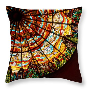 Stained Glass Ceiling Throw Pillow by Jerry McElroy