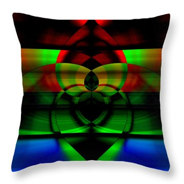 Stained Glass Throw Pillow by Cherie Duran