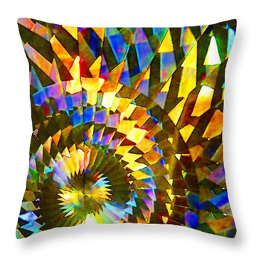 Throw Pillow featuring the photograph Stained Glass Fantasy 1 by Francesa Miller