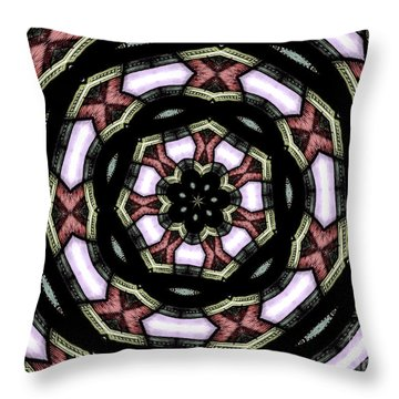 Throw Pillow featuring the photograph Stained Glass Kaleidoscope 12 by Rose Santuci-Sofranko
