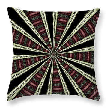 Throw Pillow featuring the photograph Stained Glass Kaleidoscope 14 by Rose Santuci-Sofranko