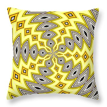 Throw Pillow featuring the photograph Stained Glass Kaleidoscope 18 by Rose Santuci-Sofranko