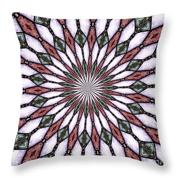 Throw Pillow featuring the photograph Stained Glass Kaleidoscope 2 by Rose Santuci-Sofranko