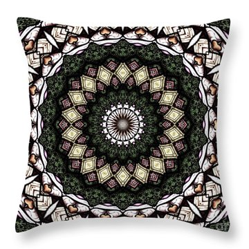 Throw Pillow featuring the photograph Stained Glass Kaleidoscope 6 by Rose Santuci-Sofranko