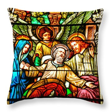 Throw Pillow featuring the photograph Stained Glass Scene 1 - 4 by Adam Jewell