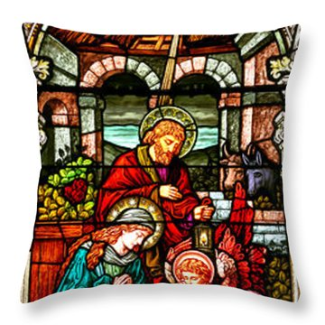 Throw Pillow featuring the photograph Stained Glass Scene 4 by Adam Jewell