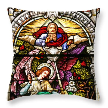 Throw Pillow featuring the photograph Stained Glass Scene 5 by Adam Jewell