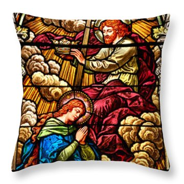 Throw Pillow featuring the photograph Stained Glass Scene 8 by Adam Jewell