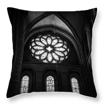 Stained Glass, St.peter's Cathedral Throw Pillow