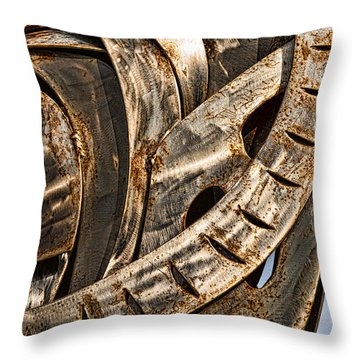 Stainless Abstract Throw Pillow by Christopher Holmes