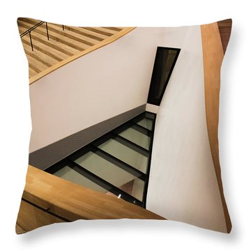 Staircase In Elbphiharmonic Throw Pillow