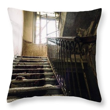 Stairs In Haunted House Throw Pillow