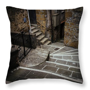 Stairs In Motion Throw Pillow by Cesare Bargiggia