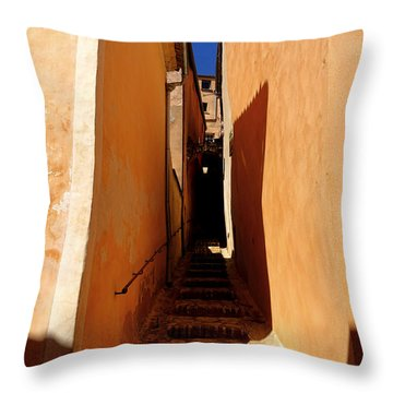 Throw Pillow featuring the photograph Stairs In Roussillon by Olivier Le Queinec