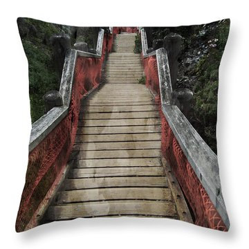 Stairs To Bliss Throw Pillow